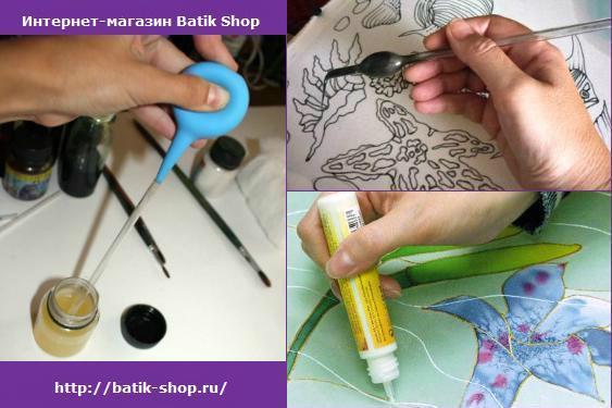 Как нанести резервирующий состав для батика на ткань