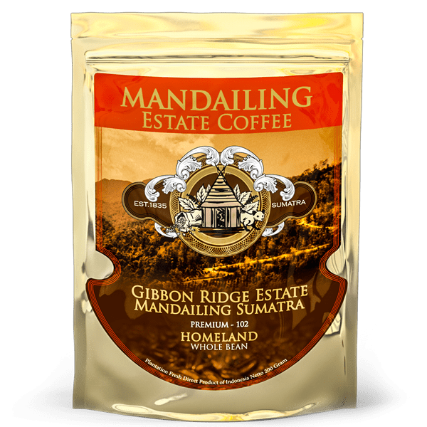 Gibbon Ridge Estate Mandailing Sumatra Premium Coffee 200 gr. — арт. 2543