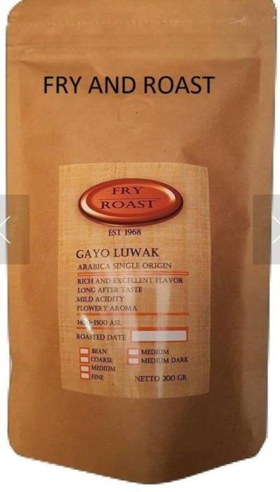 Кофе Лювак Kopi Arabika Gayo Luwak Fry and Roast 200gr арт. 2789