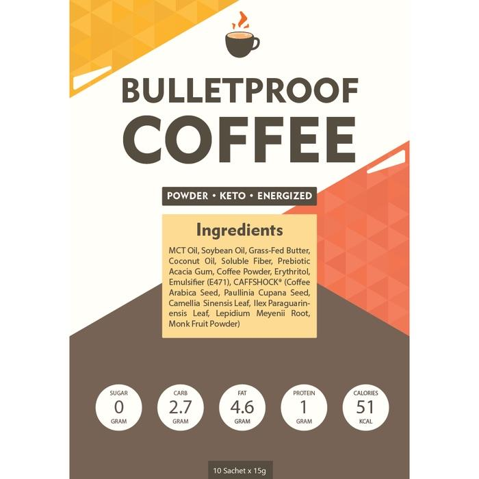 Кофе Premium Bulletproof Coffee Keto   или кофе с маслом – 10 саше  арт. 4030